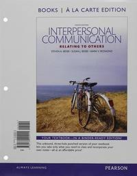 image of Interpersonal Communication: Relating to Others -- Books a la Carte (8th Edition)