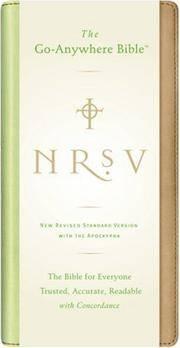 NRSV Go-Anywhere Bible w/Apoc NuTone (tan/green)
