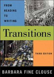 Transitions: From Reading to Writing