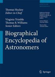 BIOGRAPHICAL ENCYCLOPEDIA OF ASTRONOMERS 2 VOL. SET by HOCKEY T