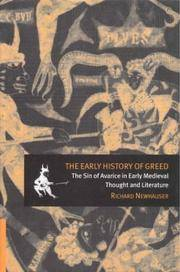 The Early History of Greed. The Sin of Avarice in Early Medieval Thought and Literature