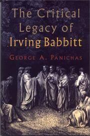 Critical Legacy of Irving Babbitt: An Appreciation