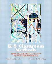 K-8 Classroom Methods: From Teacher Reflection to Student Responsibility by  Brenda H  Randi N.; Manning - Paperback - 2002-10-01 - from Cronus Books, LLC. (SKU: SKU1017817)