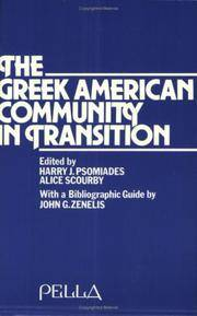 The Greek American Community in Transition
