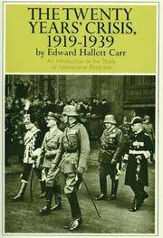 The Twenty Years' Crisis, 1919-1939: An Introduction to the Study of International Relations.