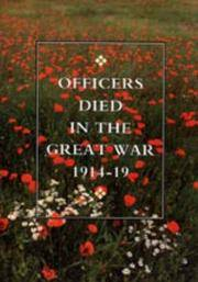 OFFICERS DIED IN THE GREAT WAR 1914-19