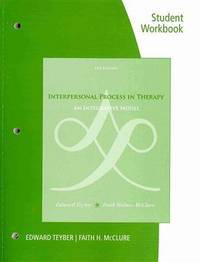 Student Workbook For TeyberMcClure's Interpersonal Process In Therapy