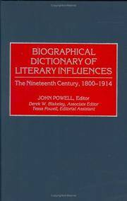 image of Biographical Dictionary of Literary Influences: The Nineteenth Century,  1800-1914