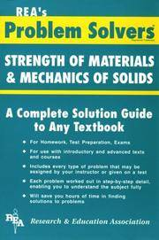 REA's Problem Solvers: Strength of Materials & Mechanics of Solids