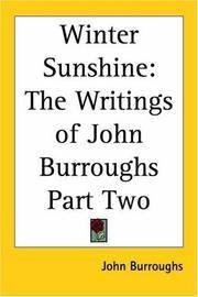 image of Winter Sunshine: The Writings Of John Burroughs