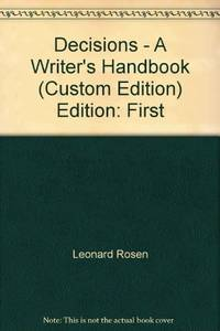 image of Decisions - A Writer's Handbook