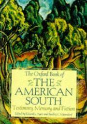 Oxford Book of the American South