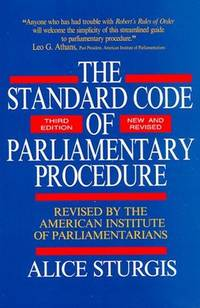 The Standard Code of Paliamentary Procedure, 3rd edition