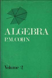 Algebra, Volume 2