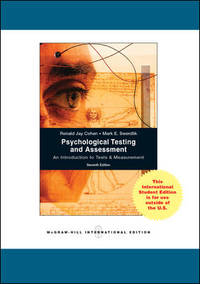 cohen psychological testing and assessment pdf