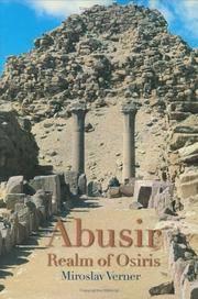 Abusir:  The Realm of Osiris by  Miroslav Verner - Hardcover - 2002 - from J. Hood, Booksellers, inc. (SKU: 173150)