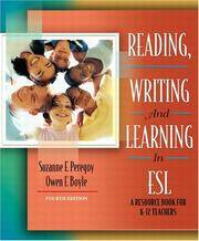 Reading Writing and Learning in ESL: A Resource Book for K-12 Teachers, MyLabSchool Edition by Peregoy by  Owen F  Suzanne F.; Boyle - Paperback - 2004-12-30 - from GOTbooks (SKU: SKU0205449239)