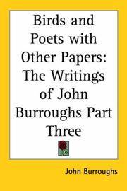 image of Birds and Poets with Other Papers: The Writings of John Burroughs Part Three