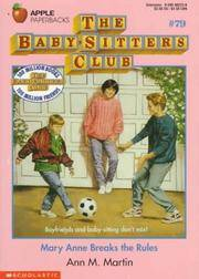 image of Mary Anne Breaks the Rules (Baby-sitters Club)