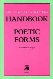 Handbook Of Poetic Forms