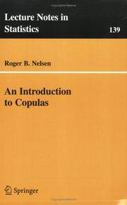 An Introduction to Copulas (Lecture Notes in Statistics, 139)