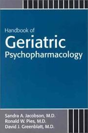 Handbook of Geriatric Psychopharmacology