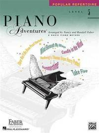 Level 5 - Popular Repertoire Book: Piano Adventures [Paperback] Faber, Nancy and Faber, Randall