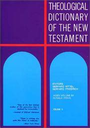 Theological Dictionary of the New Testament (Volume X)