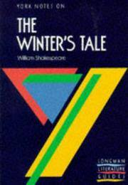 York Notes on the Winter's Tale