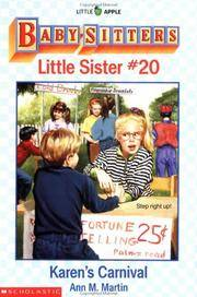 Karen's Carnival (Baby-Sitters Little Sister, 20) by  Ann M Martin - Paperback - 1995 - from Orion LLC and Biblio.com
