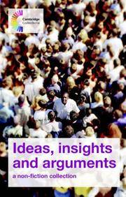 image of Ideas, Insights and Arguments: A Non-Fiction Collection (Series: Cambridge Collections)