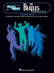 The Beatles' Greatest: E-Z Play Today Volume 88