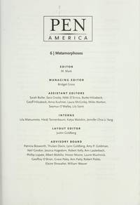 PEN America Issue 6: Metamorphoses (PEN America: A Journal for Writers and Readers) (Volume 6)