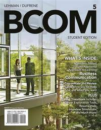 BCOM 5 (with CourseMate Printed Access Card) (New, Engaging Titles from 4LTR Press) Lehman, Carol...