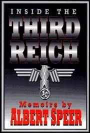 Inside the Third Reich: Memoirs by  Albert Speer - Hardcover - 1995 - from Callaghan Books South and Biblio.com
