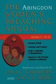 The Abingdon Women's Preaching Annual: Series 1, Year B (Abingdon Women's Preaching Annual)