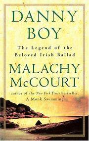 Danny Boy The Beloved Irish Ballad by Malachy McCourt - Hardcover - December 2001 - from Upper Village Books and Biblio.com
