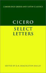 image of Cicero: Select Letters (Cambridge Greek and Latin Classics)