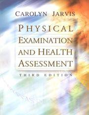 Physical Examination and Health Assessment by Carolyn Jarvis - Hardcover -  from HawkingBooks and Biblio co nz