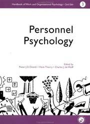 A Handbook Of Work And Organizational Psychology Vol 3: Personnel Psychology