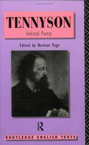 image of Tennyson: Selected Poetry (Routledge English Texts)