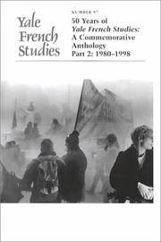 Yale French Studies, 97: 50 Years of Yale French Studies, A Commemorative Anthology Part 2:...