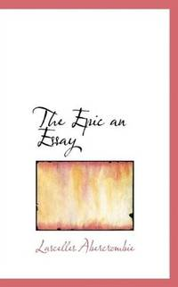 The Epic, an Essay