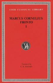 The Correspondence of Marcus Cornelius Fronto: Vol 001