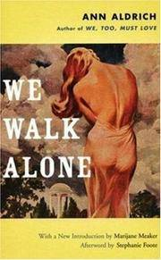 We Walk Alone by  Ann Aldrich - Paperback - from BEST BATES and Biblio.co.uk