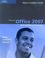 image of Microsoft Office 2007: Brief Concepts and Techniques (Shelly Cashman Series)
