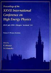 Proceedings of the XXVII International Conference on High Energy Physics