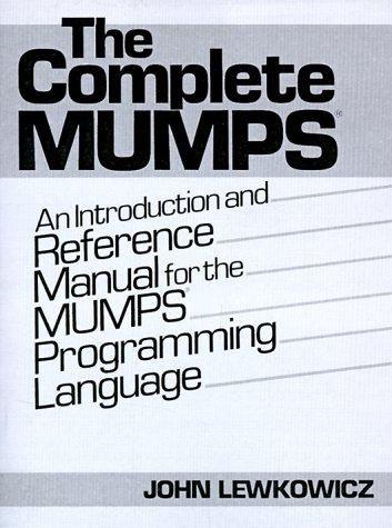 the mumps programming language pdf