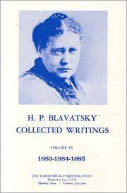 H.P. Blavatsky Collected Writings : Volume 6 - 1883-1884-1885