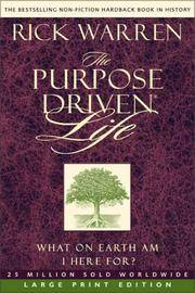 image of The Purpose-Driven Life: What on Earth Am I Here For?